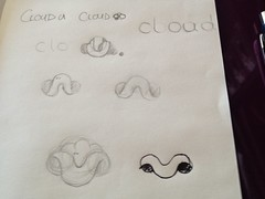 "CloudU Logo sketches • <a style=""font-size:0.8em;"" href=""http://www.flickr.com/photos/10555280@N08/12461647365/"" target=""_blank"">View on Flickr</a>"