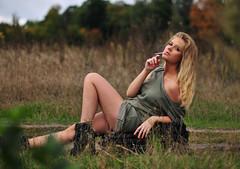 Femme Fatale (anexxx) Tags: portrait woman hot sexy nature girl 50mm model nikon fotografie bokeh outdoor cigarette 14 poland polska smoking mm fotografia nikkor 50 portret polishgirl d300 dziewczyna plener kobieta dym blondynka 14g zdjęcia papieros modelka seksowna portretowa portretowe aleksandrawoźniak
