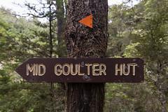 Mid Goulter Hut (jonathan.aotearoa) Tags: newzealand sign hut doc departmentofconservation teararoa mtrichmondforestpark midgoulterhut
