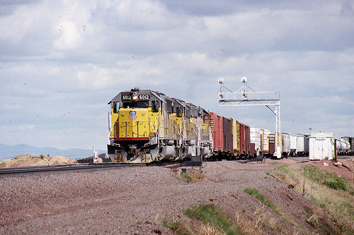 Union Pacific Sd60 6012 At Tie Siding Wy On 5 28 87 A