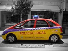 Policia Local Citron Xsara Picasso (Boss-19) Tags: red yellow de spain purple son citron espana picasso local mallorca 112 geel rood policia cala spanje   paars polizia xsara politie ajuntament millor servera poltiie ajuntatement