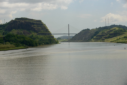 Centennial Bridge from Culebra Cut, Panama Canal