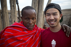 Calvin with a Maasai Warrior
