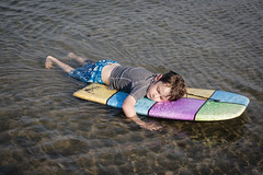 Chilling out (andrewmalone) Tags: ocean family beach water oscar unitedstates maine scarborough boogieboard