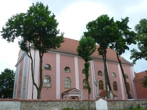 Kościół pocysterski św. Jana Chrzciciela w Cieplicach Śląskich-Zdrój od północy