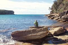 Wattamolla Beach Fishing 2 (everyday sh_ter) Tags: park beach forest sydney waterfalls kookaburra wattamolla garie royalnationalpark audley stanwell hackerriver