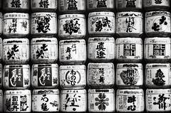 Holy booze (O9k) Tags: stilllife analog tokyo fuji minolta barrels 28mm hc110 rangefinder sake 100 analogue acros cle selfdeveloped rokkor fujipan homedeveloping mejitemple