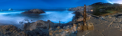 Sutro Baths Panorama (ec808x) Tags: ocean sanfrancisco seascape night shoreline sutrobaths moonlight