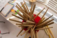 Drum Sticks (Phil Roeder) Tags: wood school education iowa drumsticks desmoines canon15mmf28 desmoinespublicschools