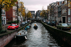 Sail the Canal (huangb) Tags: world street camera travel fall water netherlands beautiful dutch amsterdam canon boats mercedes boat canal interesting colorful europa europe flickr photographer mark iii colorphotography streetphotography streetscene wanderlust adventure explore elite sail 5d audi 1740mm worldtravel travelphotography streettog