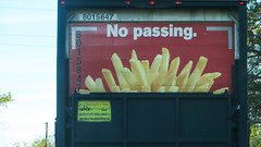 no passing (timp37) Tags: sign truck no mcdonalds fries passing