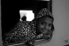 Peeping before the train starts (Shadman241091) Tags: morning winter window smile station train canon hoodie child passengers jacket bangladesh bnw peeping chittagong