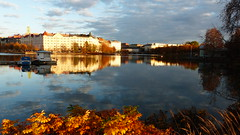 An October afternoon view to Siltasaari (Helsinki, 20151029) (RainoL) Tags: autumn sea sky urban cloud reflection building finland landscape geotagged helsinki october helsingfors fin elintarhanlahti kluuvi uusimaa 2015 nyland siltasaari djurgrdsviken kaisaniemenlahti broholmen gloet kajsaniemiviken kajsaniemi kaisaniemibotanicgarden 201510 20151029 geo:lat=6017812672 geo:lon=2494055272