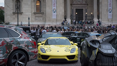 Outstanding (Molnar Gabor) Tags: show people cars race racecar parking rally spyder porsche batmobile 3000 supercar bentley gumball 918 luxory