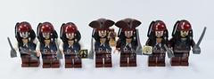 Lego Jack Sparrow family (Alex THELEGOFAN) Tags: lego pirates caribbean poc001 poc010 poc011 poc012 poc024 poc029 poc034 legography minifig minifigs minifigure minifigures minifigurine minifigurines fond blanc jouet illustration brillant
