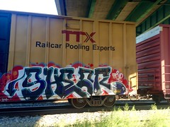 Shear (halolaylow) Tags: chicago graffiti freight shear benched fr8t