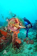 Truk Scuba Diving 2016, Shinkoku Maru, sterm engine telegraph and mike the diver WM (divemasterking2000) Tags: ocean travel lost photography japanese divers travels war king ship underwater pacific wwii dive traces scuba diving lagoon adventure shipwreck scubadiving fsm diver states truk adventures sunken sunk wreck scubadive artifacts tanker warship maru micronesia federated underwaterphotography 2016 chuuk battlesite wreckdive wreckdiving truklagoon tracesofwar shinkokumaru japaneseship shinkoku kaptures wreckdives kingkaptures kingkapturesphotography