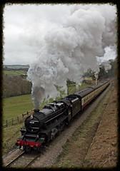North Yorkshire Moors Railway. (Adrian Walker.) Tags: canon smoke railway steam elements locomotive tamron steamtrain grosmont nymr blackfive greenend 60d 45428