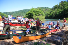 Saturday Morning at Steel Creek Campground Access to Buffalo River - Northwest Arkansas (danjdavis) Tags: canoes arkansas canoeists buffaloriver steelcreekcampground buffalonatkionalriver