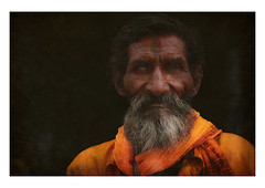 the visionary (handheld-films) Tags: old travel portrait people india man male closeup beard faces indian elderly portraiture seeing aged sight bearded sadhu blindness holyman eyesight subcontinent madhyapradesh