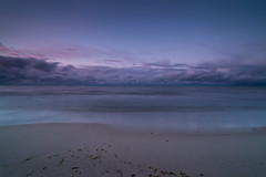 Blue Hour by the sea (derliebewolf) Tags: blue sunset cloud beach nature water clouds landscapes g balticsea layers bluehour ostsee cloudporn longshadows hss movingclouds sliderssunday