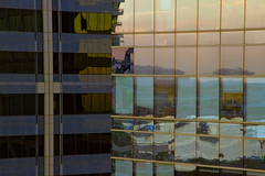 High-Rise Murals (Exdeltalady) Tags: windows abstract reflections painting downtown geometry murals stainedglass pastels watercolors mutedcolors highrises