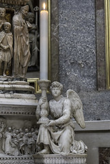 Michelangelo's Angel (Lawrence OP) Tags: church statue angel dominican basilica carving bologna marble michelangelo convent priory candlestick sandomenico arca stdominic