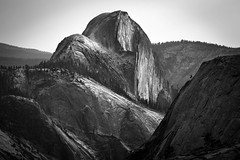 Dark Majesty (Kirk Lougheed) Tags: california bw usa monochrome landscape nationalpark unitedstates outdoor yosemite dome halfdome yosemitenationalpark rockformation olmstedpoint