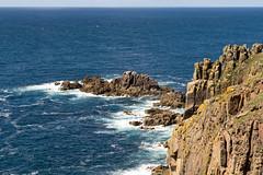 Lands End Cliffs (Tangoman11) Tags: ocean blue sea england sky nature water coast scenery cornwall waves britain outdoor cliffs atlantic landsend lanscape