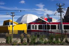 CTrain: Millennium Park (Vic Gedris) Tags: canada calgary train blueline tram alberta transit millenniumpark lightrail lrt 202 yyc ctrain calgarytransit siemenssd160ngseries8