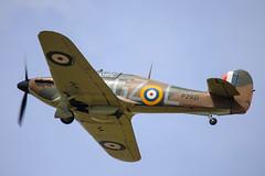 Hurricane P2921 (Steve G Wright) Tags: vintage flying display hurricane flight airshow ww2 raf hawker battleofbritain airdisplay hawkerhurricane p2921