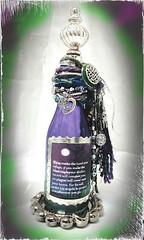 Purple and Green Soldered Bottle (Jazzie Menagerie) Tags: green purple metallic bible scripture solder psalm jazziemenagerie