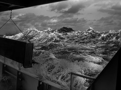 A bright and boisterous day (MyEyeSoul) Tags: seas mountainous ocean water spume boat ship deck myeyesoul rough voyage sail storm clouds coralsea australia waves swell barrier reef pitch roll sky cloud weather