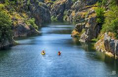 Remando (JoseQ.) Tags: agua remos canoas rio lozoya atazar madrid