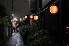 MATSURI is near rainy ver.1/ (kurupa_m) Tags: street rain festival night lantern     xt10