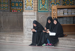 the mobile generation (=Mirjam=) Tags: travel school girls people mobile colours iran mosaic culture mei tradition qom 2016 smartphones seeingtheworld exploringtheworld nikond750