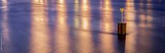 Night lights on the Rhine (jKm-Photographie) Tags: bridge water landscape dam strasbourg paysage couleur fleuve rhin
