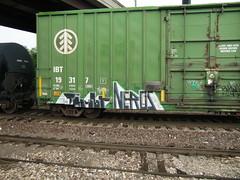 09-01-10 (13) (This Guy...) Tags: road railroad car train graffiti box graf rail rr traincar boxcar graff 2010