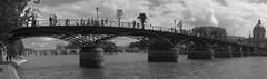 Pont des Arts (olivier.lours) Tags: paris france seine noiretblanc panoramique passerelledesarts