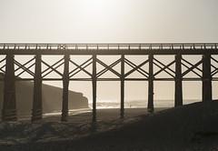 Week 18 - Railroad (Kyle Hixson) Tags: wood railroad bridge sky orange sun cold yellow outdoors sand outdoor windy sunny overexposed raised thirds brach