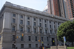 Baltimore Architecture (Sam DeGenova) Tags: baltimore buildings city cars sun shine reflections people street america