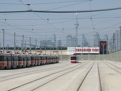 Streetcars and the City (Sean_Marshall) Tags: toronto ttc streetcar lesliebarns