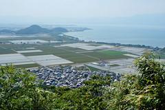 1 (Yorozuna / ) Tags: mountain lake field japan view  ricefield  birdseyeview  shiga omihachiman  biwalake biwako     lakebiwa          hachimanyama       pentaxsupertakumar28mmf35 hachimanmountain  okamountain mthachiman mthachimanyama