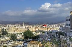 Medina's Cemetery (Yassine Abbadi) Tags: sky cloud building tree cemetery wall muslim islam mosque morocco maroc medina ramadan marruecos islamic tetuan tetouan