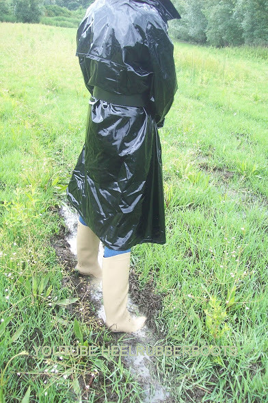 ff52b6bca0 fetish pvc raincoat and rubber boots (heelrubberboots) Tags  woman leather  fetish mac shiny