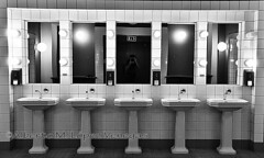 20160608_1442bw (chupoptero) Tags: oslo norway pattern restroom grainy sinks radhuset