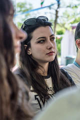 Stolen Glances (michelevico) Tags: portrait people girl eyes outdoor crowd research surprise stolen curious gaze glance concentrate notexpected