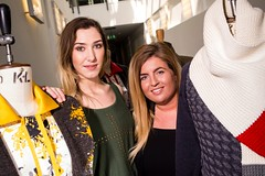 Sophie Kelman and Lara Cresswell with their final pieces (National Army Museum) Tags: fashion garments universityofderby 4998 markeatonstreet