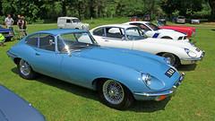 Jaguar 'E' Type 9 MJH (BIKEPILOT) Tags: uk greatbritain blue classic car vintage automobile transport icon hampshire vehicle british jaguar alton sportscar motorcar jaguaretype carmeet thedeparturelounge 9mjh
