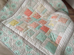 Shabby-chic-quilt_000018 (irina_vykhrestiuk) Tags: modern quilt handmade homemade twin kid child patchwork bedding bed quilting memory throw